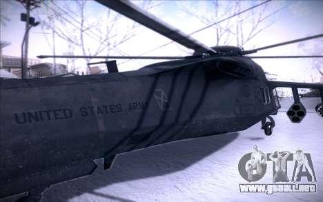 MH-X Silenthawk para GTA San Andreas vista hacia atrás