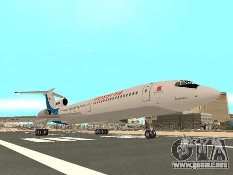 Tu-154 B-2 SCC de Rusia para GTA San Andreas vista hacia atrás