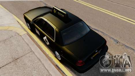 Ford Crown Victoria Cab para GTA 4 visión correcta