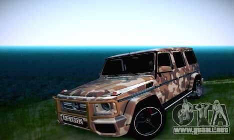 Mercedes Benz G65 Army Style para visión interna GTA San Andreas