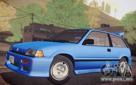 Honda Civic S 1986 IVF para la visión correcta GTA San Andreas