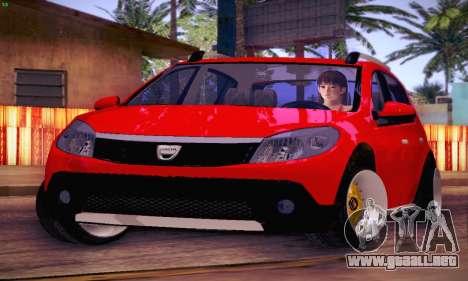 Dacia Sandero para visión interna GTA San Andreas