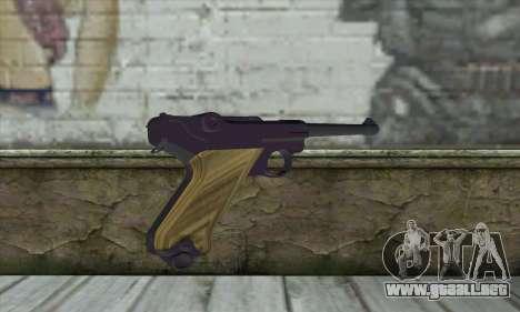 LugerP08 para GTA San Andreas segunda pantalla