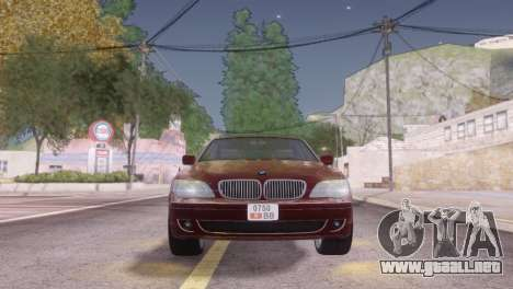 BMW 750Li E66 para vista inferior GTA San Andreas