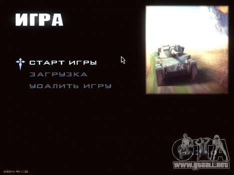 Menú de World of Tanks para GTA San Andreas tercera pantalla