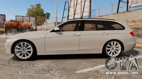 BMW 330d Touring (F31) 2014 Unmarked Police ELS para GTA 4 left