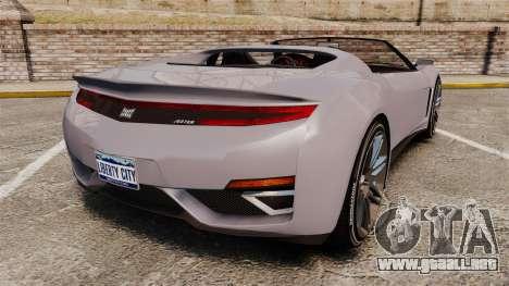 GTA V Dinka Jester Rodster para GTA 4 Vista posterior izquierda