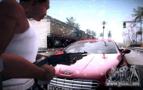 Spas 12 para GTA San Andreas quinta pantalla
