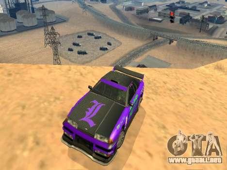 Equipo de Luni vinilos para Elegy para GTA San Andreas vista hacia atrás