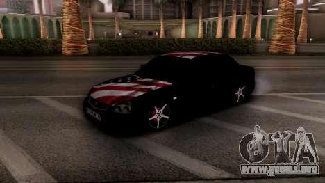 Lada Priora para GTA San Andreas vista posterior izquierda
