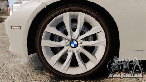 BMW 330d Touring (F31) 2014 Unmarked Police ELS para GTA 4 vista hacia atrás
