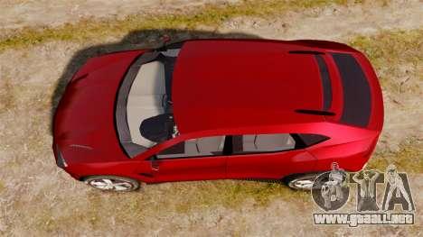 Lamborghini Urus LP840 2015 para GTA 4 visión correcta