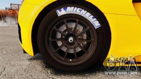 McLaren MP4-12C GT3 (Updated) para GTA 4 vista hacia atrás