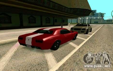 GTA V Gauntlet para GTA San Andreas vista posterior izquierda