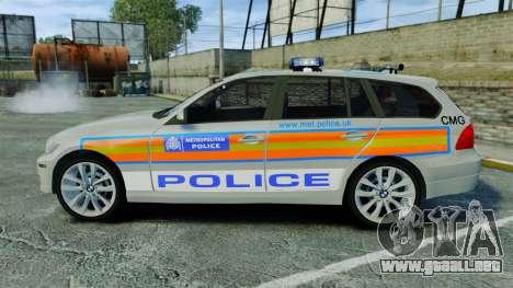 BMW 330i Touring Metropolitan Police [ELS] para GTA 4 left