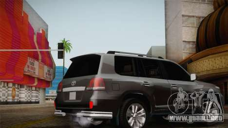 Toyota Land Cruiser 200 para las ruedas de GTA San Andreas