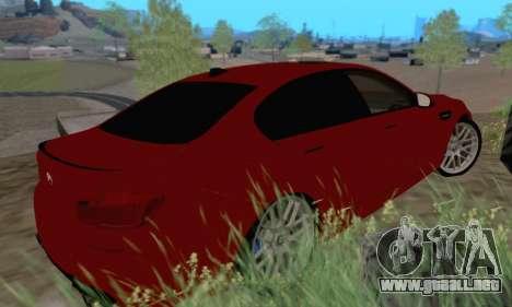 BMW M5 F10 v1.1 para GTA San Andreas vista posterior izquierda