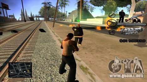 C-HUD Russian Mafia by Luigie para GTA San Andreas tercera pantalla