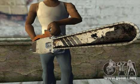 Motosierra de L4D2 para GTA San Andreas tercera pantalla