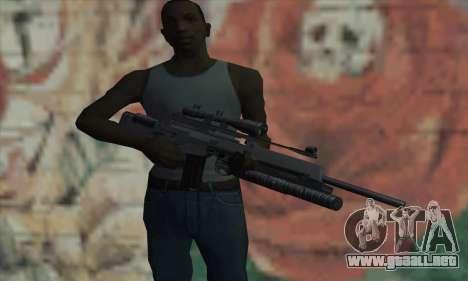 SG550 para GTA San Andreas tercera pantalla
