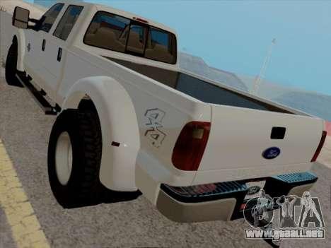 Ford F450 Super Duty 2013 para GTA San Andreas vista posterior izquierda
