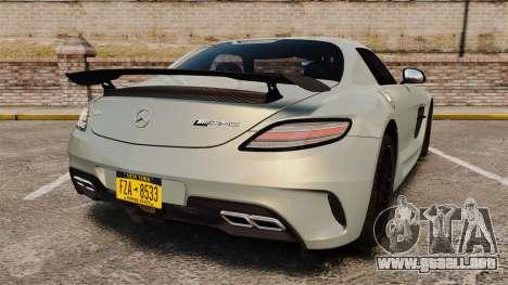 Mercedes-Benz SLS 2014 AMG Black Series para GTA 4 Vista posterior izquierda