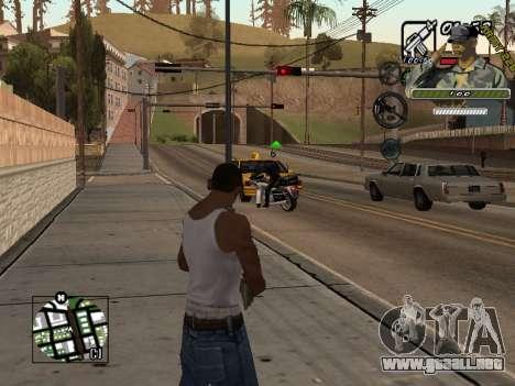C-Hud Army by Enrique Rueda para GTA San Andreas segunda pantalla