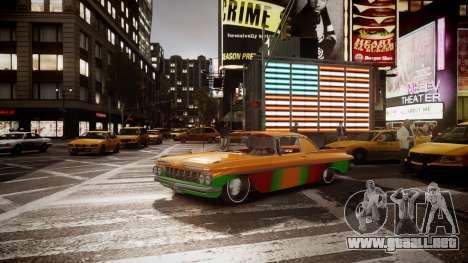 Chevrolet Impala para GTA 4 Vista posterior izquierda