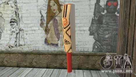 Adidas Cricket Bat para GTA San Andreas