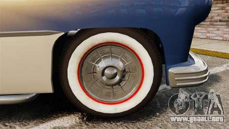 Mercury Lead Sled Custom 1949 para GTA 4 vista hacia atrás