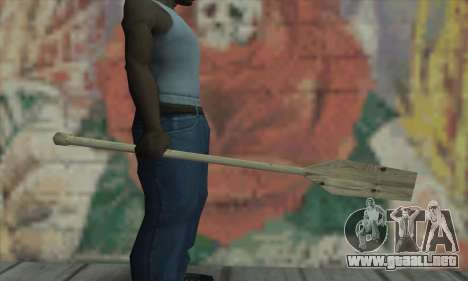 The wooden paddle para GTA San Andreas segunda pantalla