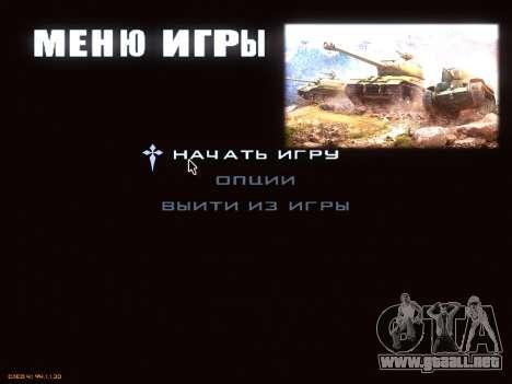 Menú de World of Tanks para GTA San Andreas segunda pantalla