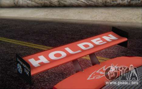 Holden Commodore para GTA San Andreas vista hacia atrás