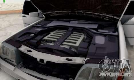 Mercedes-Benz 600SEL para GTA San Andreas vista hacia atrás