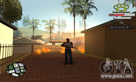 C-HUD Gangster by NickQuest para GTA San Andreas segunda pantalla