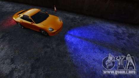 Azul faros para GTA 4