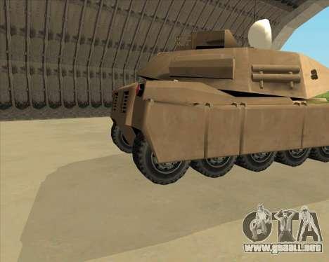 Rhino Mark.VI para GTA San Andreas vista posterior izquierda
