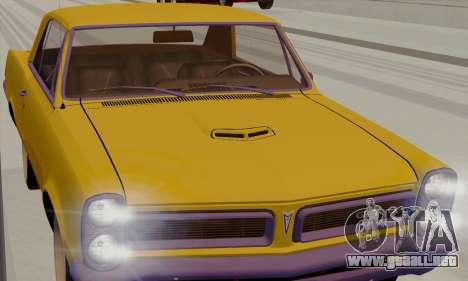 Pontiac GTO 1965 para la visión correcta GTA San Andreas