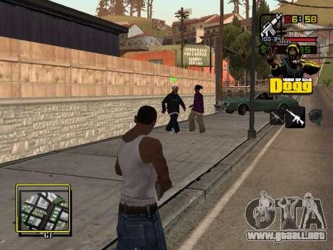C-HUD Snoop Dogg para GTA San Andreas tercera pantalla