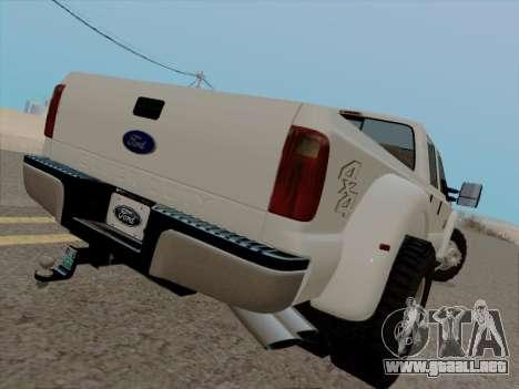 Ford F450 Super Duty 2013 para la visión correcta GTA San Andreas