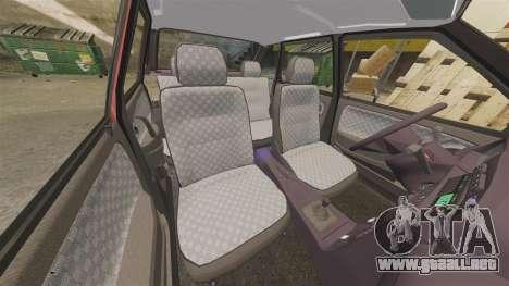 VAZ-2114 Samara-2 para GTA 4 vista desde abajo