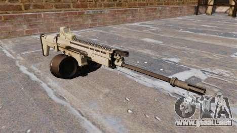 Fusil automático FN SCAR-H LMG para GTA 4