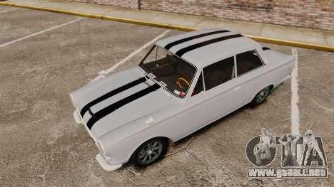 Lotus Cortina 1963 para GTA 4 vista desde abajo