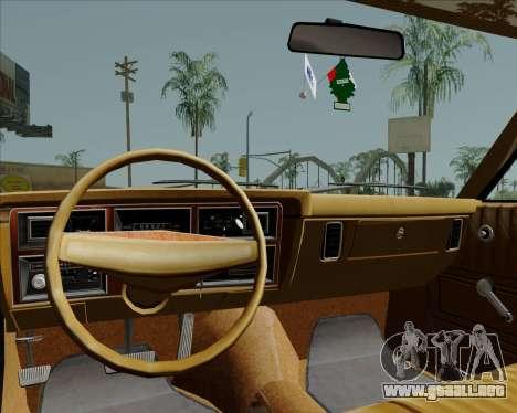 Dodge Aspen para visión interna GTA San Andreas