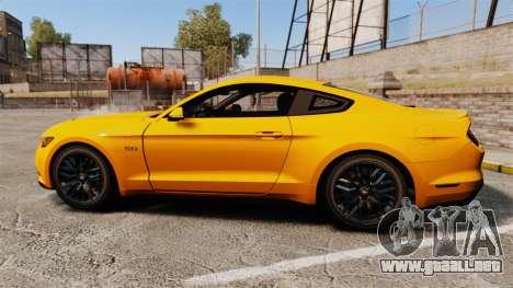 Ford Mustang GT 2015 v2.0 para GTA 4 left