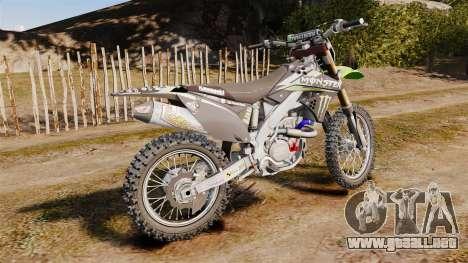 Kawasaki KX250F Monster Energy para GTA 4 left