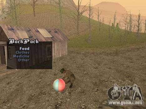 Mochila 2.0 para GTA San Andreas segunda pantalla
