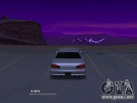 Elegy Stock Glases para GTA San Andreas vista posterior izquierda