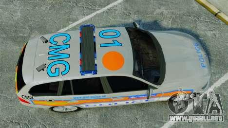 BMW 330i Touring Metropolitan Police [ELS] para GTA 4 visión correcta