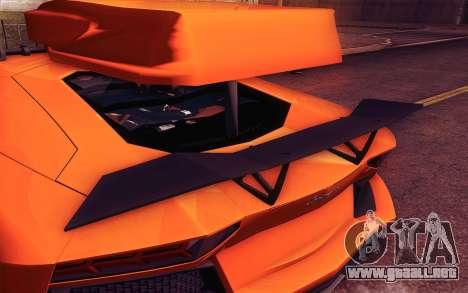 Lamborghini Aventador LP 700-4 para visión interna GTA San Andreas